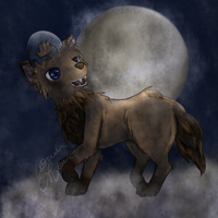 On the moon by conwolf
