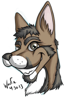 RobbieHeadshot by DaBigBadWulf