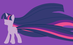 Twilight Sparkle Minimalistic Glamour Wallpaper by robynneski