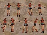 Re 2 you re death poses Claire Redfield by Toshiie1