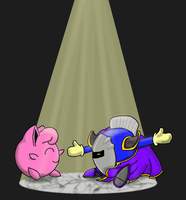 Comission 01 - Jigglypuff and Metaknight by Tingcat