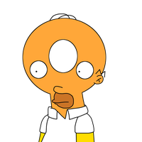 Homer with Donut head by MarcosLucky96