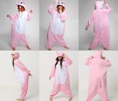 Pig and Mouse onesies by Laireadder