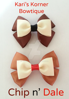 Disney Inspired Bow - Chip and Dale by aidahayou