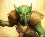 MtG Online- Goblin Warchief by UdonCrew