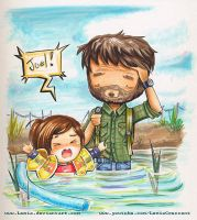 The Last of Us Joel and Ellie by LemiaCrescent