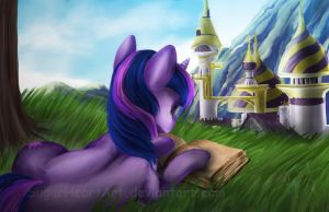 Book horse by SugarHeartArt