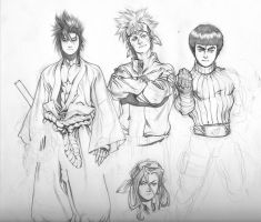 naruto warmup sketches by ChaseConley