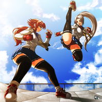 COMMISSION : Yui VS Sera by jadenkaiba