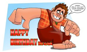 Happy B day from Wreck it Ralph by doodler1978