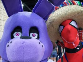 Bonnie and Deadpool at Fanboy by FullmetalotakuDCK