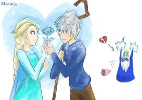 Quick Draw: I Support Jack Frost love Elsa LOL by Marini4