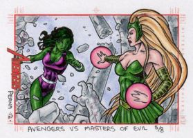 She-Hulk vs Enchantress - MGH by tonyperna