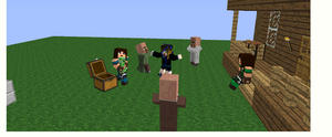 me and my friends playing minecraft by catalia13