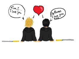 Roxas and Xion love by marinuk-pencilpower