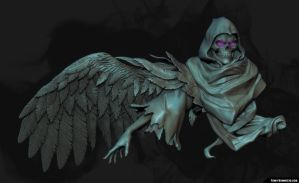 Dizzy - Necro Wing sculpt by FunkyBunnies