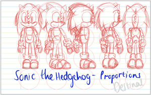 Sonic The Hedgehog Proportions by destinal