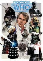 Peter Davison - Monster art by jlfletch