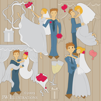 Just Married Clip Art by jdDoodles