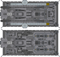 John F Kennedy Class Variants (Top View) by Kelso323