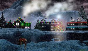 Winter Holiday Snowing I by drumthrasher4hr