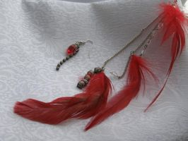 Trance Kuja Feathered Earring by LadySiha