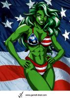She Hulk 9 by Garrett Blair by Mythical-Mommy
