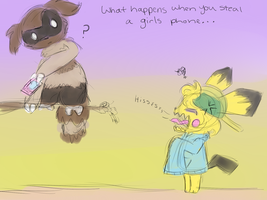 What  Happens When You Steal A Girls Phone by Bowtiefoxin