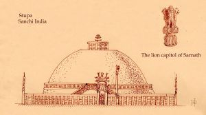 Temple in Sanchi by Redilion