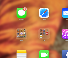 iOS7-like Launchpad folder on OS X by ismartrobot