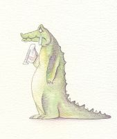 Crocodiles also cry by Nivalis70