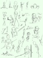Random poses sheet by MissPinks