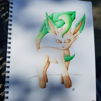 Leafeon revisited by okamiofwar710