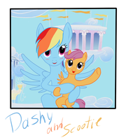 Dashy and Scootie by Vasillium