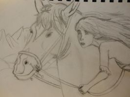 A girl and her horse by kate131