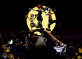 Kingdom Hearts - Happy Halloween! by Legend-tony980