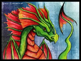 I like drawing dragons by Firrea