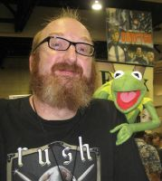 Kermit with Brian Posehn by kevinkaraoke