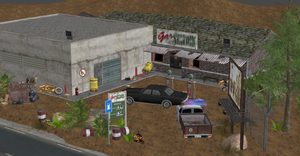 GAS STATION WITH INTERIORS by Oo-FiL-oO