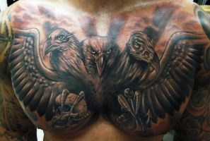 Full Chest Piece Tattoo by hatefulss