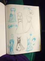 dress doodles for a character design by DrGengar