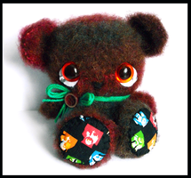 Beatle bear amigurumi teddy  - sold by tiny-tea-party