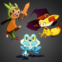 Kalos starter by Wakettina
