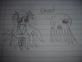 Minecraft - Ghast Girl by Waddle-Dance