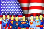 Supermen with American Flag by CaptainBarringer