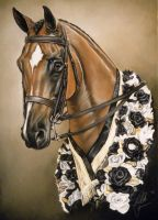 Pastel Horse Portrait (Shorty) by lalabellexx