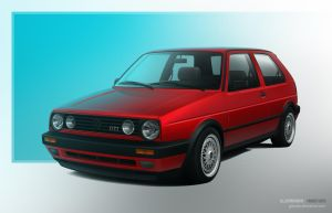 My 1991 VW Golf Mk2 GTI - vexel by GTStudio