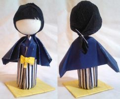 3D Origami Kid Prize Doll - Boy in Blue by mihijime