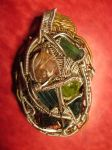Tourmaline, Garnet and Peridot wire wrap by Civyx