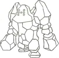 Regirock Sketch by CoolMan666
